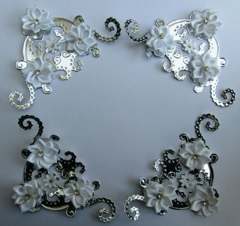 4 STUNNING DECORATED CRAFT CORNERS FOR CARD MAKING SCRAPBOOKING PHOTO ALBUMS ETC